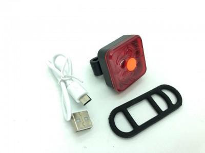 Фонарь велосипедный XFL-106-6SMD RED  micro USB 5реж.